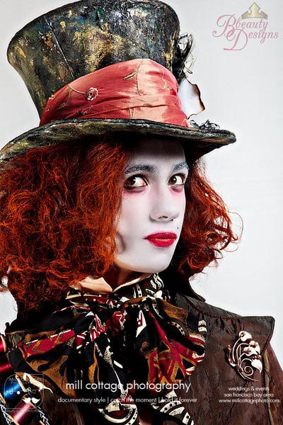Custom Buckram Top Hat Painted
