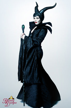 Maleficent Villain Costume & Horns Gown Couture