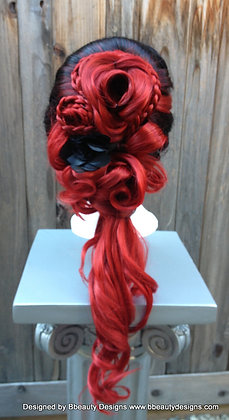 Dark Victorian Rose Lace front Wig