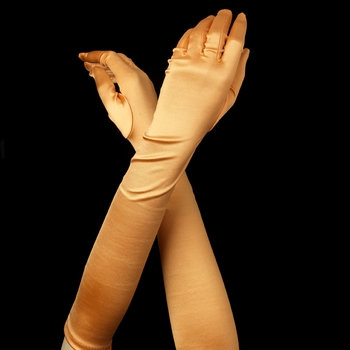 Satin Gloves - Orange