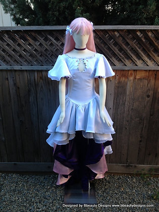 Godika Madoka Magica Anime Evening Dress Cosplay