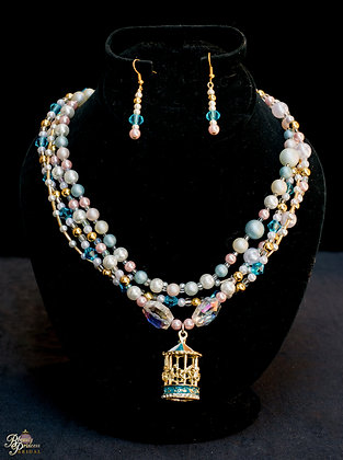 Carousel Horse Couture Necklace & Earrings