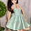 Thumbnail: Love in the Afternoon Retro Halter Dress in Aqua Floral