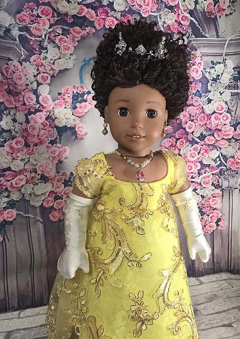 Marina Dress in Yellow/Gold