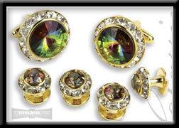 Royal Prince Crystal Cufflink Set Mardi Gras