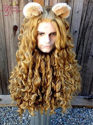 Cowardly Lion Men's Wizard of Oz Wig