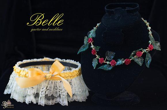 Belle Necklace and Garter Set
