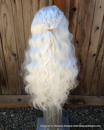 Daenerys Inspired vB Braided Hair Lace Front Wig