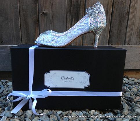 Cinderella Fantasy Lace Couture Bridal Heels