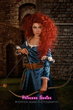 Merida Version A Brave Inspired Costume Wig Adult