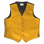 Royal Groomsmen Luxury Satin Vest Gold