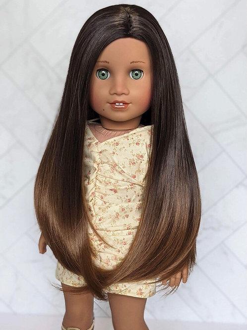 """Isabelle Ombré in Mocha Chip 11"""""""