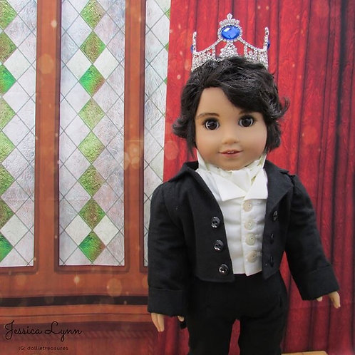 Doll Crown - Prince Regent in Blue Full Size