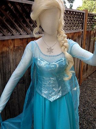Elsa Frozen Glitterized Version H Adult Costume