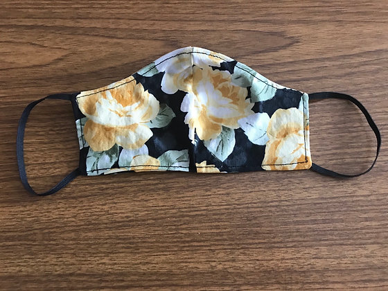 Double Layer Face Mask - Yellow Rose