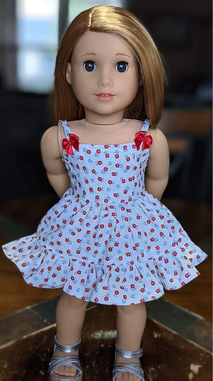 """Juniper"" Strappy Dress in Apple Blossom"
