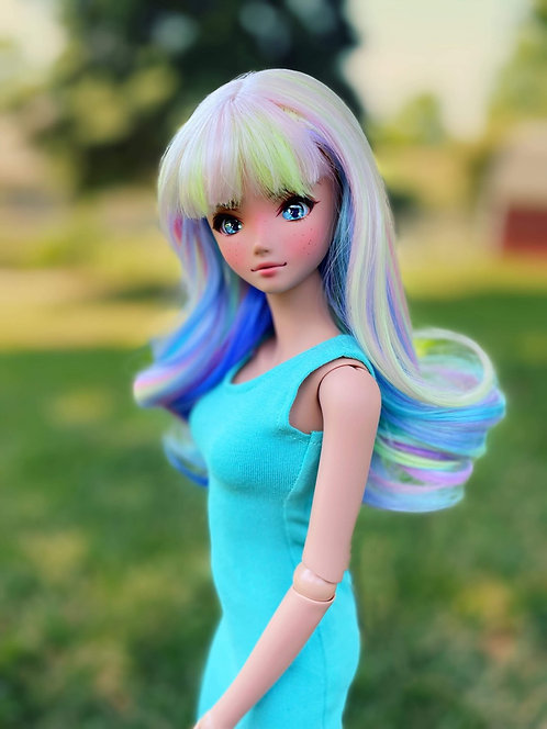 """Audrey Wig in Rainbow Bliss 8.5-9"""""""