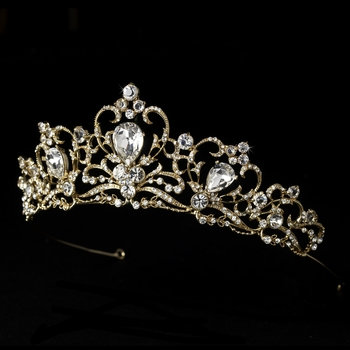 True Love's Kiss Gold & Crystal Tiara