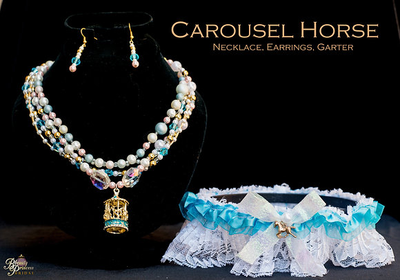 Carousel Horse Garter and Necklace Set
