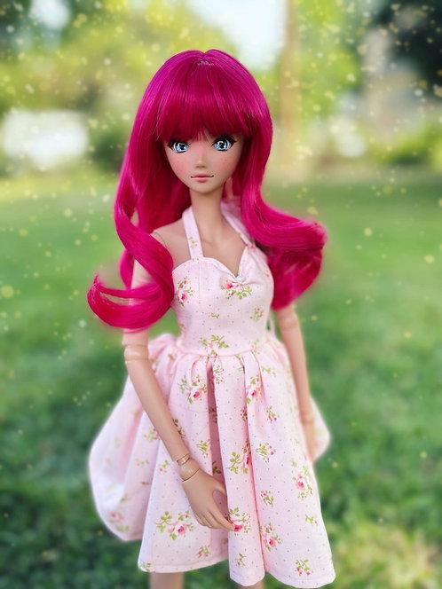 """Audrey Wig in Dark Pink  8.5-9"""""""