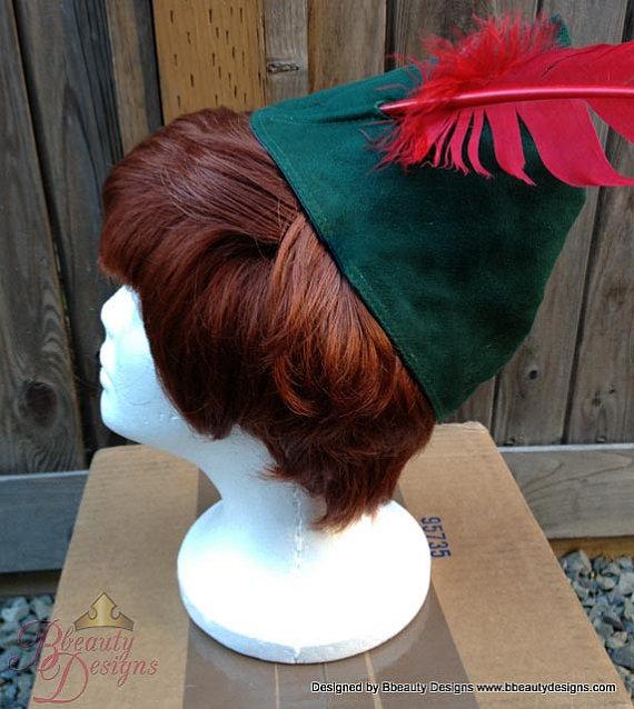 Custom Faux Suede Peter Pan Hat