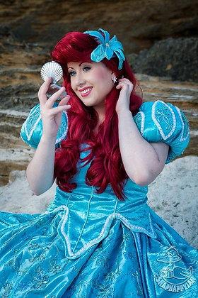 Ariel Mermaid Aqua Sea Foam Park Dress (B)