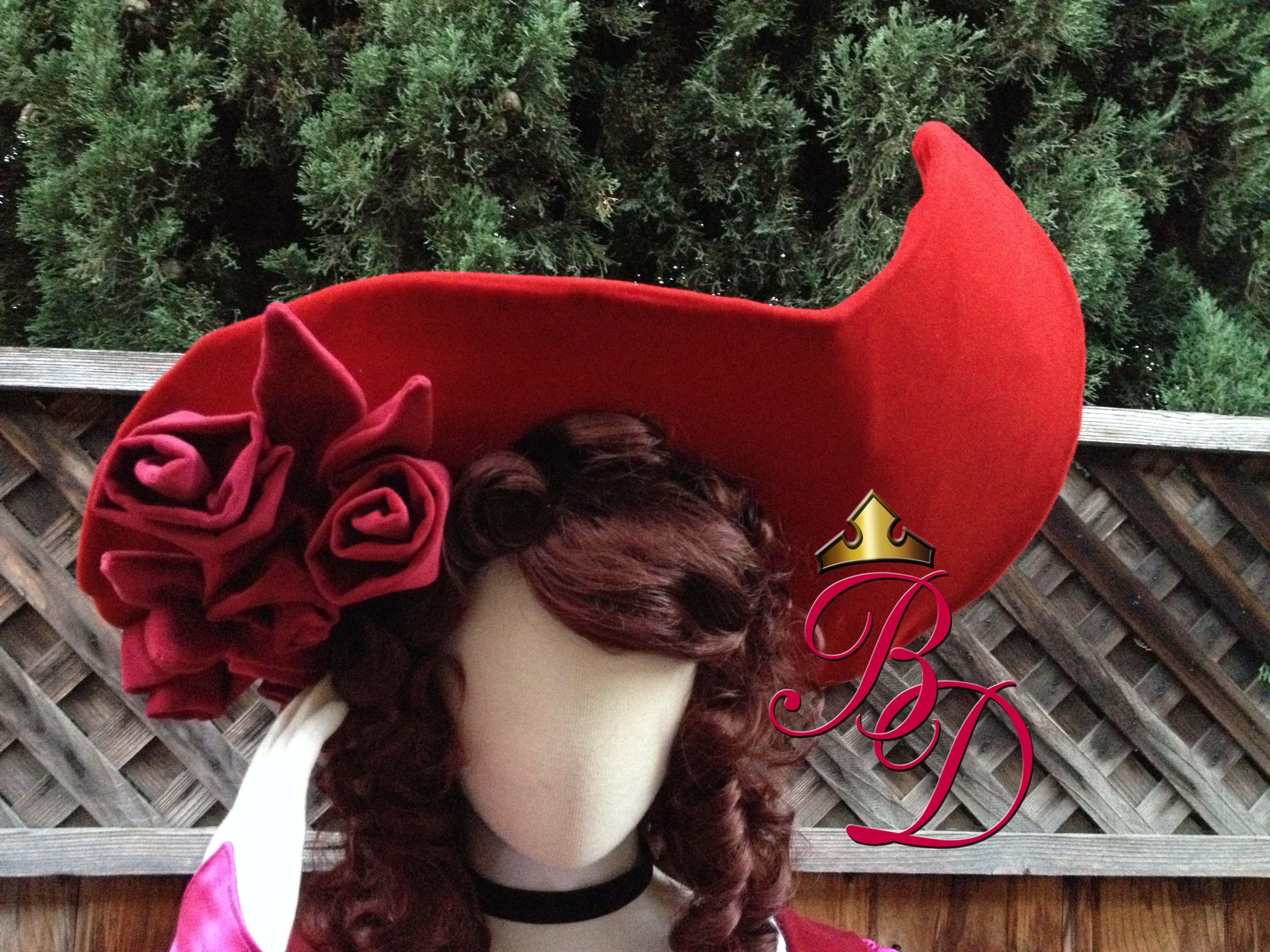 Custom Female Pirate Hat Velvet