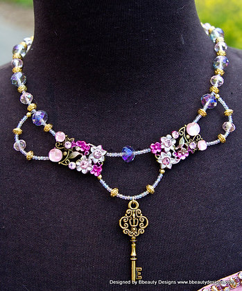 Rapunzel Fantasy Necklace with Key