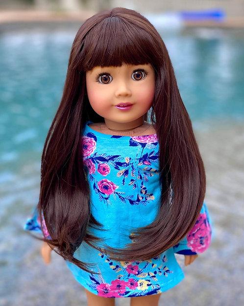 "Tiffany in Dark Chocolate 11"""