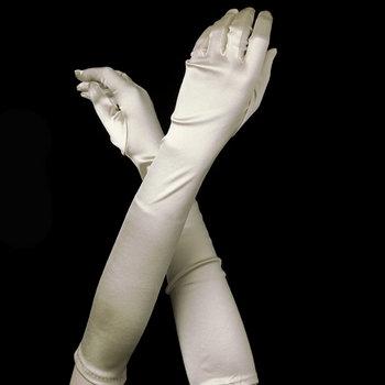 Satin Gloves - Ivory