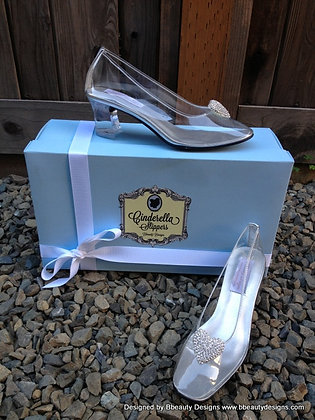 Cinderella Glass Slipper Heart Costume Shoes