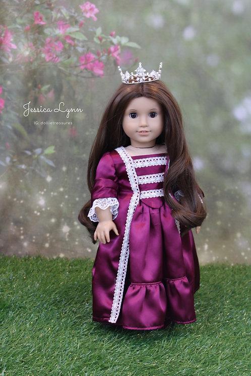 Doll Crown - Diamond Rose Silver Mini