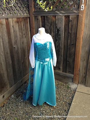 Baby Elsa Frozen Sparkly Snow Queen Child Costume