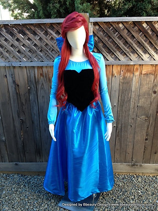 Ariel Kiss the Girl in Taffeta with Bow Costume(B)