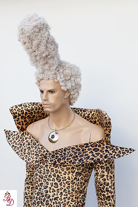 Ruby Rhod White Afro Wig Fifth Element Movie Wig