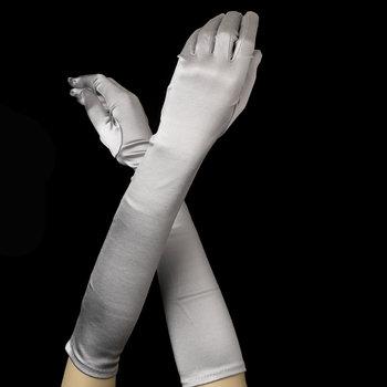 Satin Gloves - Silver