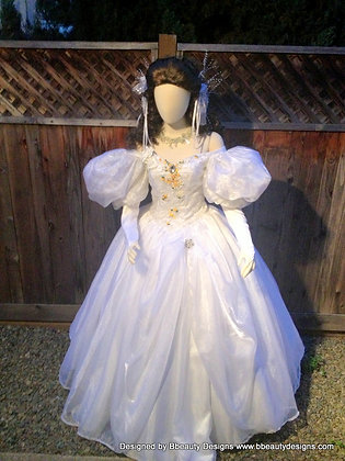 Labyrinth Sarah Bridal Gown Silk Ribbon Rose
