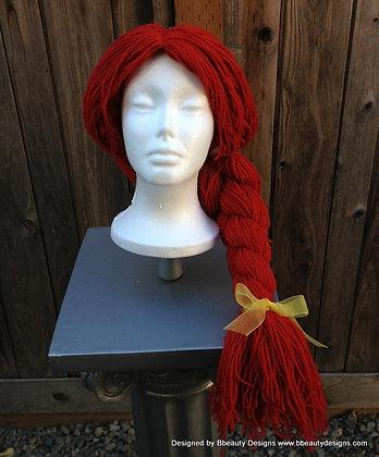 Jessie or Sally or Clown Red Yarn Wig Custom