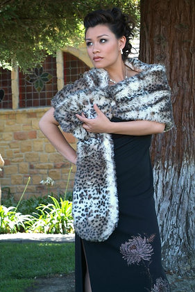 Faux Fur Mink Inspired Stole with Satin Lining