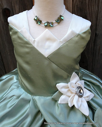 Tiana Princess Lily Dress Necklace for Child