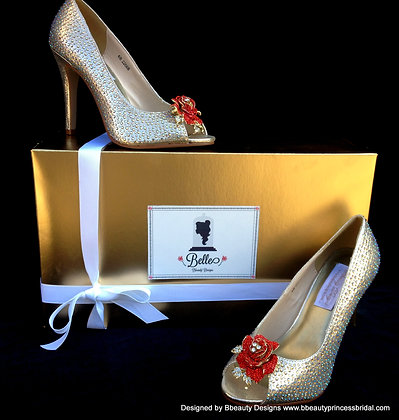 Beauty and the Beast Belle Shimmering Bridal Heels