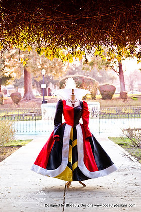 Queen of Hearts Villains Custom Costume Dress Gown