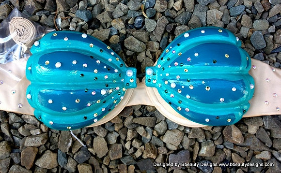 Ariel Shell Bra Painted Resin Bra