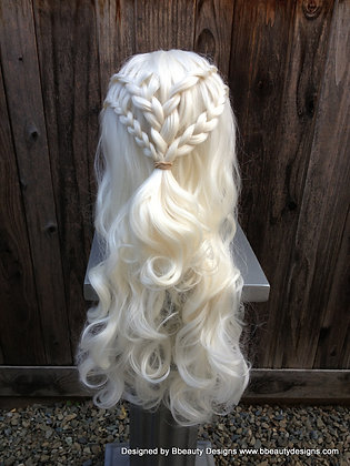 Daenerys Inspired vA Braided Hair Lace Front Wig