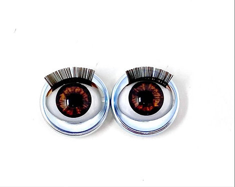 Premium Eyes Amber Brown