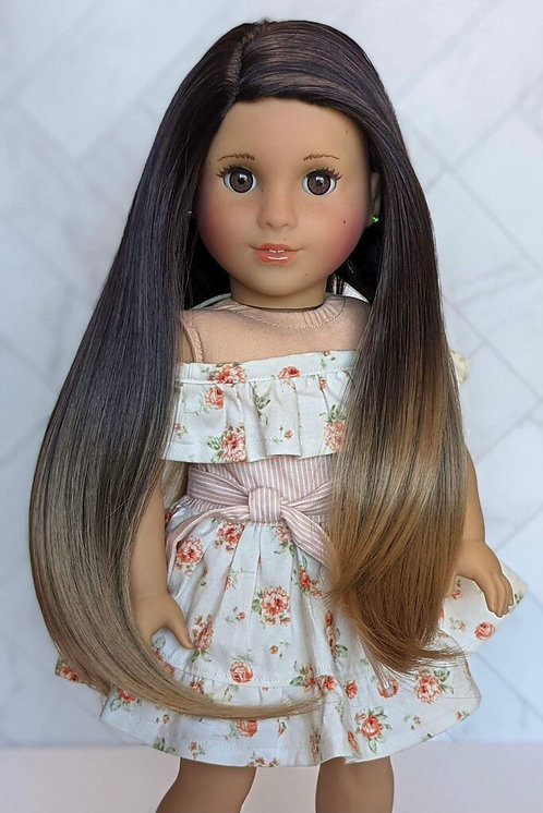 """Isabelle Ombré in Toasted Almond 11"""""""