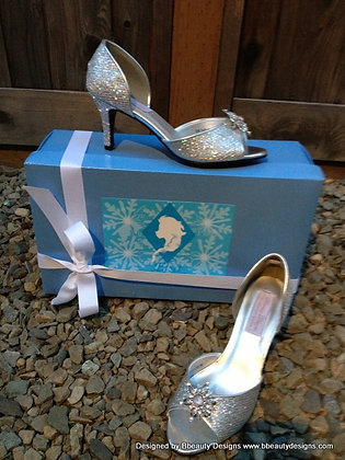 Elsa Frozen Bridal Shoes Heels