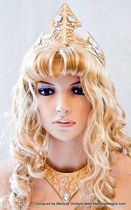 2013 Style Sleeping Beauty Metal Embellished Crown