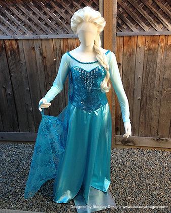 Elsa Frozen Sparkly Version D Adult Costume