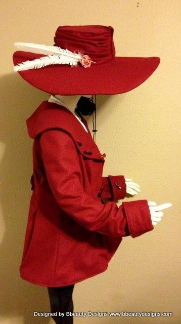 Custom Wide Brim Hat Buckram & Wool